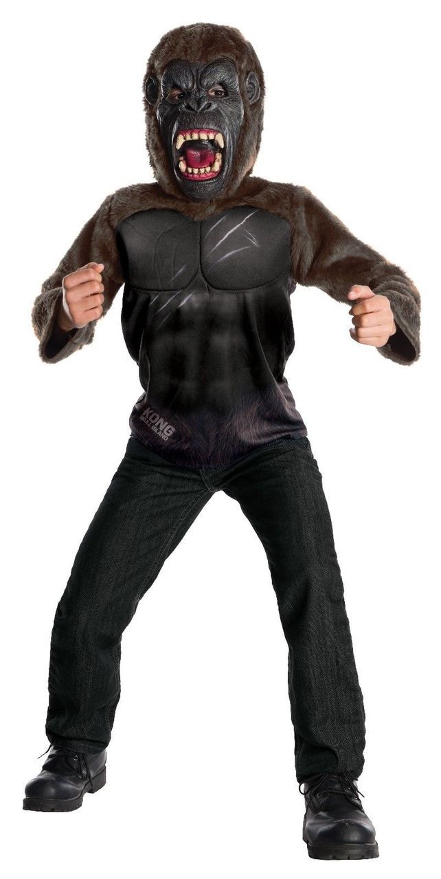 rubies deluxe king kong skull island gorilla movie kids halloween costume 630896