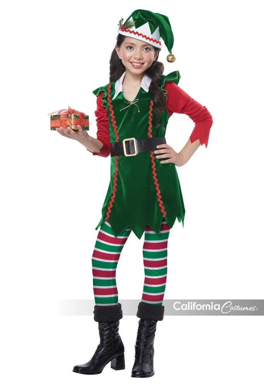 California Costumes Festive Elf Child Girls Holiday Christmas Xmas Costume 00604  sc 1 st  Fearless Apparel : santa claus child costume  - Germanpascual.Com
