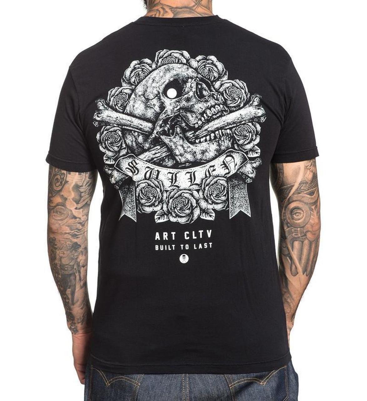 Sullen Art Collective Stipple Skull Tattoo Urban Street Inked Mens Shirt SCM1411