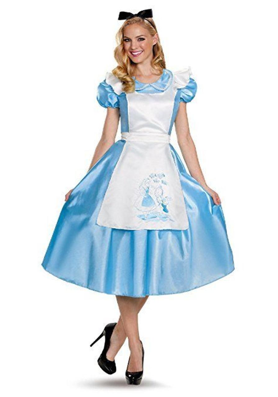 disguise alice in wonderland deluxe adult womens halloween costume 85698
