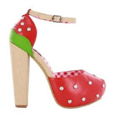 2b7e3c086b Iron Fist Strawberry Lips Fruit Tattoo Skull Platform Heels Punk Goth Shoes