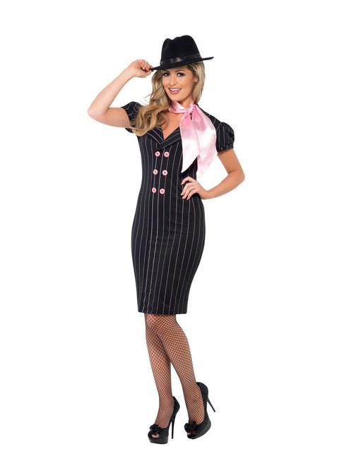 ... Smiffys Gangsteru0027s Moll Mafia Mobster Adult Womens Halloween Costume 23697 ...  sc 1 st  Fearless Apparel & Smiffys Gangsteru0027s Moll Mafia Mobster Adult Womens Halloween Costume ...