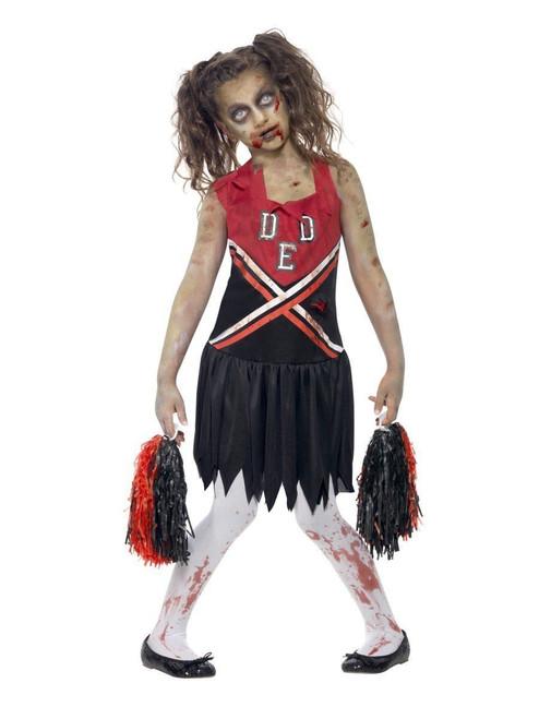 smiffys zombie cheerleader horror highschool child girls halloween costume 43023