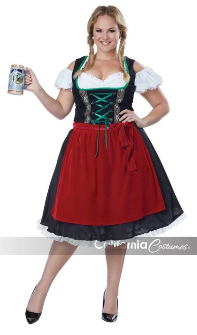 California Costumes Oktoberfest Fraulein Adult Womens Halloween Plus Size 01751  sc 1 st  Fearless Apparel : california costumes robin hood  - Germanpascual.Com
