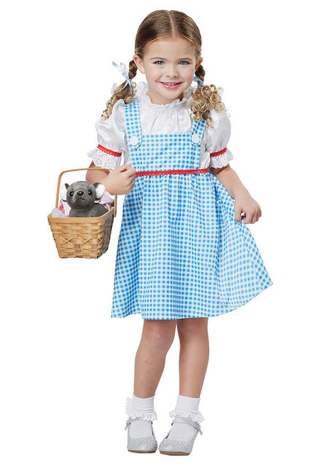 California Costumes Dorothy Wizard Of Oz Girls Toddler Halloween Costume 00181