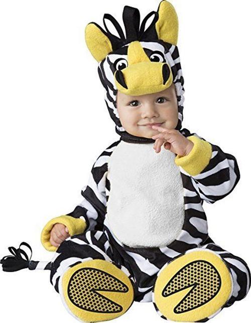 incharacter zany zebra animal pet zoo infant baby halloween costume 6079