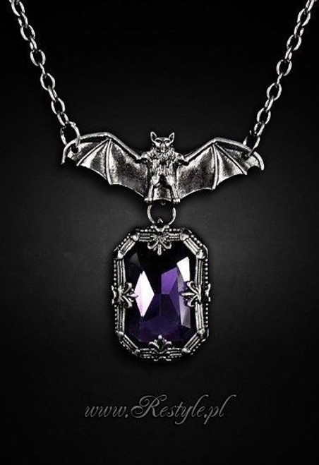 Restyle night whisper gothic pendant necklace bat purple occult restyle night whisper gothic pendant necklace bat purple occult jewelry wiccan aloadofball Gallery
