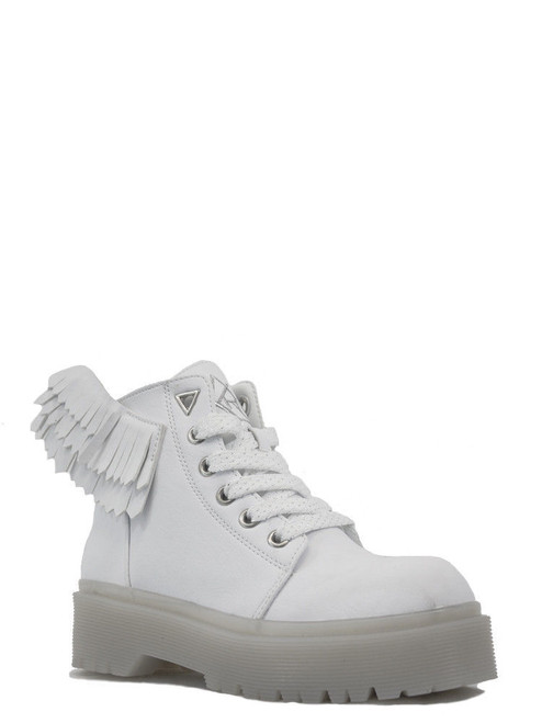 b96d267af8a5 YRU Youth Rise Up Slayr Angyl White Wings Punk Angel Goth Womens Shoes  Sneakers
