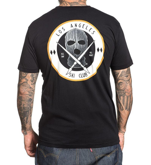 Sullen Clothing Ski Club Mask All Day All Night Adult Mens T Tee Shirt  SCM1360