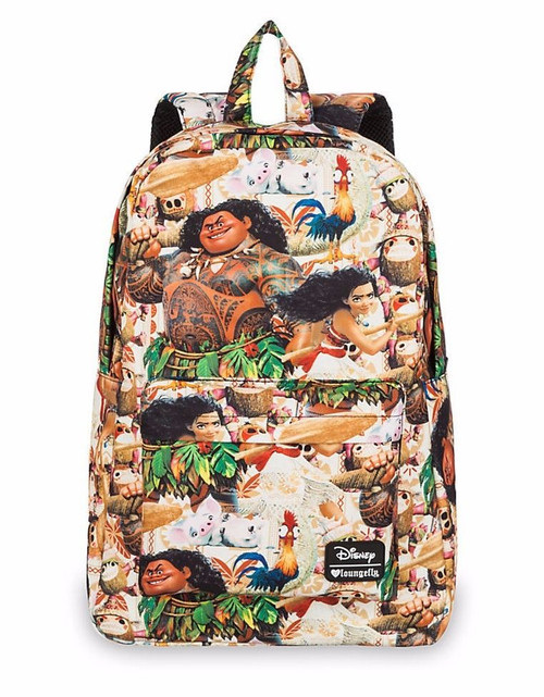 Loungefly Moana AOP Maui Hawaiian Disney Bag Pua Laptop AOP Backpack WDBK0224
