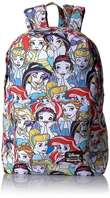 Loungefly Disney Princesses Ariel Cinderella Belle Laptop Bag Backpack WDBK0128