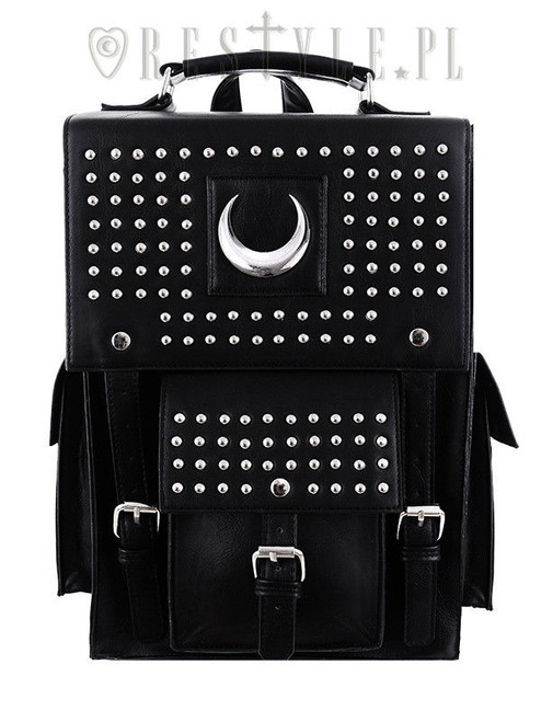 Restyle Iron Moon Vegan Leather Punk Goth NuGoth Rocker Book Bag Backpack