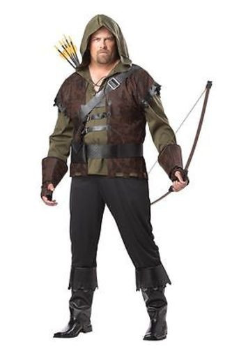 ADULT MENS PLUS SIZE ROBIN HOOD MEDIEVAL GOTHIC ARCHER FUN HALLOWEEN COSTUME 2XL  sc 1 st  Fearless Apparel & ADULT MENS PLUS SIZE ROBIN HOOD MEDIEVAL GOTHIC ARCHER FUN HALLOWEEN ...
