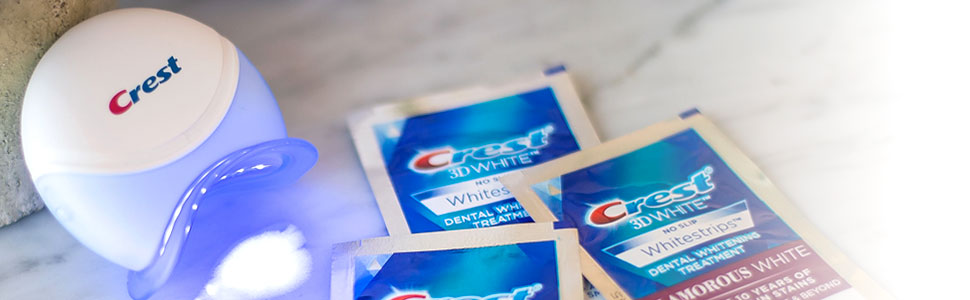Crest Teeth Whitening Kits include the Crest Blue Light | Crest White Smile