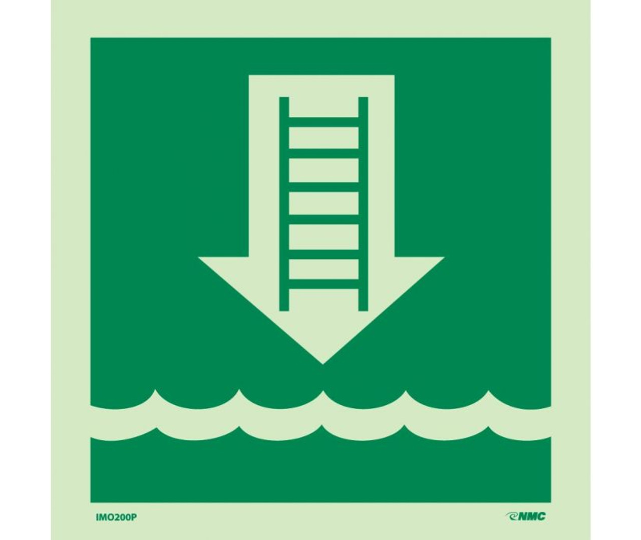 Imo Symbol Embarkation Ladder 6x6 Glow Vinyl Laminated Jendco