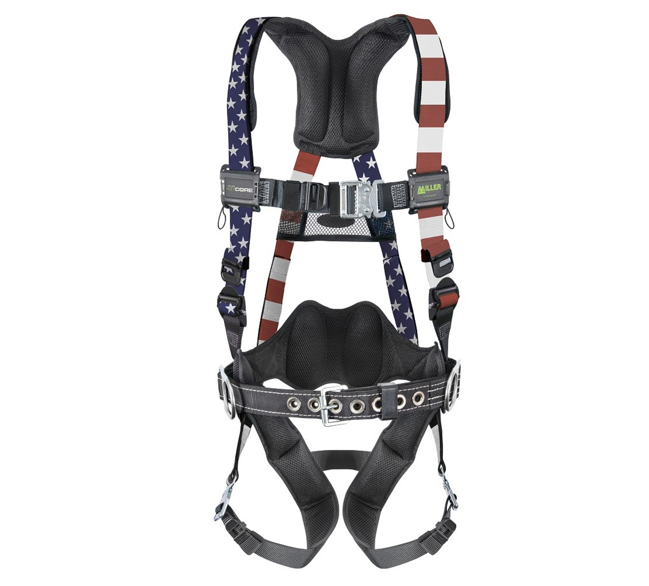 Miller AirCore Patriotic Harness with Steel Hardware - Jendco Safety