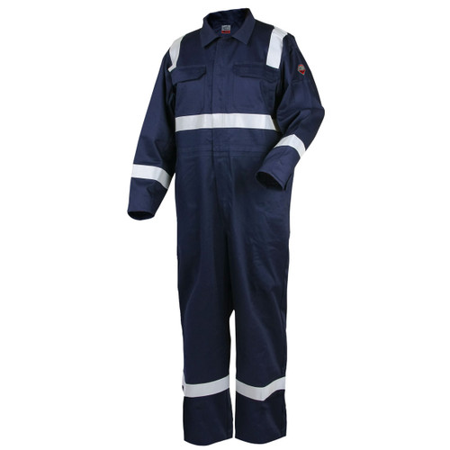"Revco Deluxe FR Cotton Navy Coverall  with 2"" Reflective Tape CF2216-NV"
