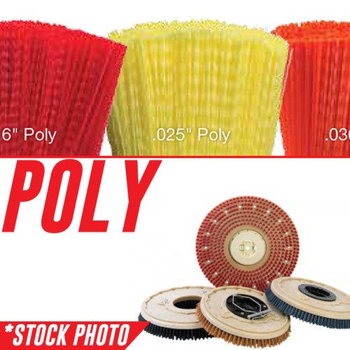 """11"""" Rotary Brush .020"""" Poly fits International Cleaning Equipment Models i24"""