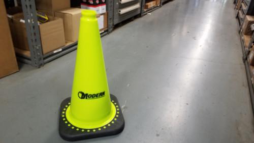 Modern 18-Inch Traffic Safety Cone (Neon Yellow)