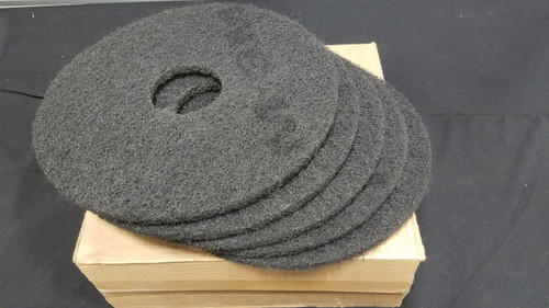 3M 7200 Black Stripper Pads  14 Inch (5 Pack)