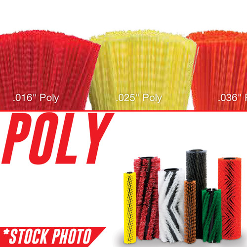 """731091: 45"""" Cylindrical Brush 24 Single Row Poly fits PowerBoss Models Nautilus"""