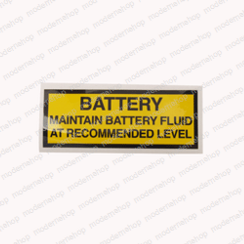 005221-000: Upright DECAL - BATTERY MAINTAIN