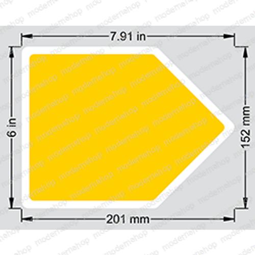 0070540: Snorkel DECAL - ARROW YELLOW