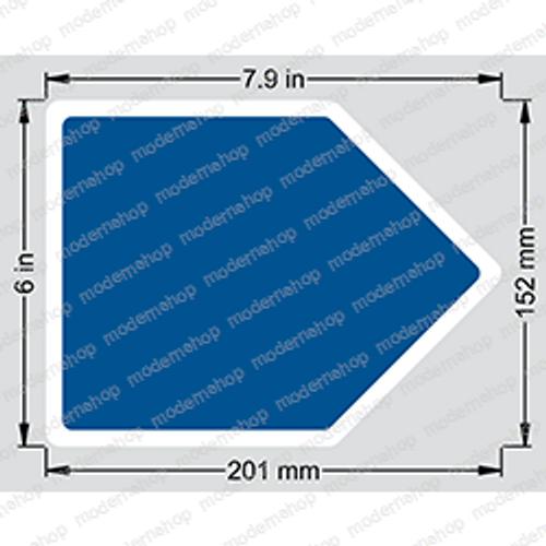 0070541: Snorkel DECAL - ARROW BLUE