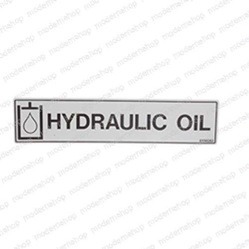 0071927: Snorkel DECAL - HYDRAULIC OIL