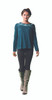 Meadow Viscose Long Sleeve Top With Embroidery Detail