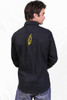 Stagger Lee Cotton Snap Up Shirt With SYF & Bolt Embroidery