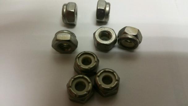 10-32 Stainless Steel Lock Nut, Per Each