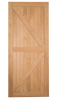 British Brace Barn Door shown in optional American Cherry - call for pricing