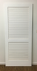 Plantation shutter door painted white ready to ship