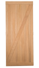Barn Door Z Brace style -  shown here in American Cherry (this option raises price $150 - please call to order)