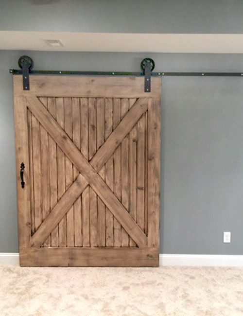 Installed Jumbo Wheel Barn Door Hardware