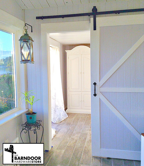 standard barn door hardware