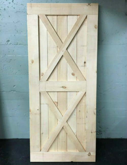 Double X-brace Solid Wood Barn Door