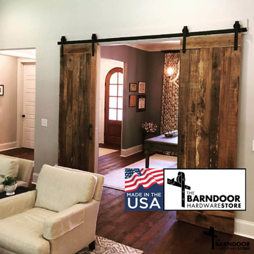 ... Standard Double Sliding Barn Door Hardware Kit From The Barn Door  Hardware Store ...