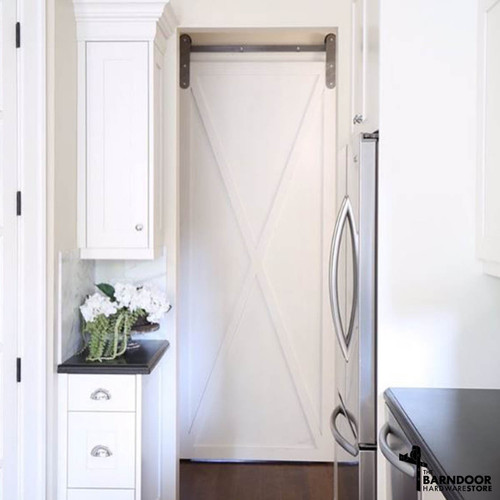 ... Rounded Modern Barn Door Hardware Kit ...