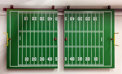 Football Sports Doors to cover large screen TV's