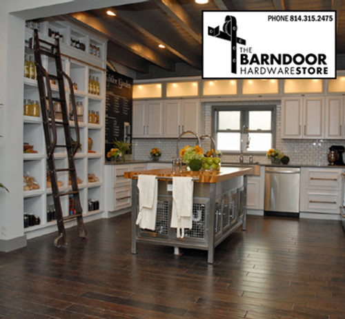 Bon Rolling Library Ladder (with Optional Side Hand Rails $250) In A Kitchen