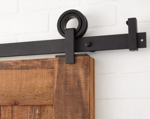 Ultra Modern Rolling Barn Door Hardware Kit with 6' track