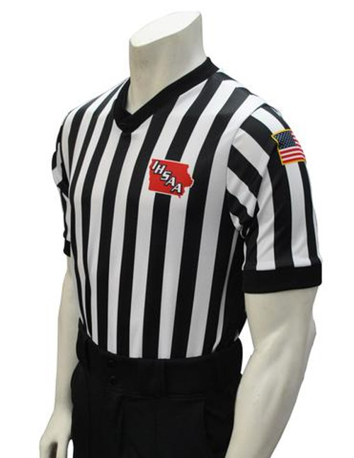 Iowa IHSAA Prosoft Side Panel Basketball Referee Shirt