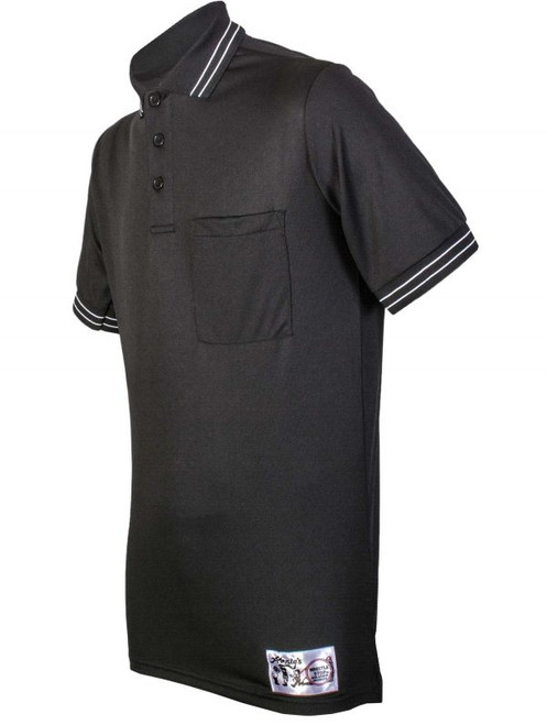 Honigs Black Umpire Shirt with Black and White Trim