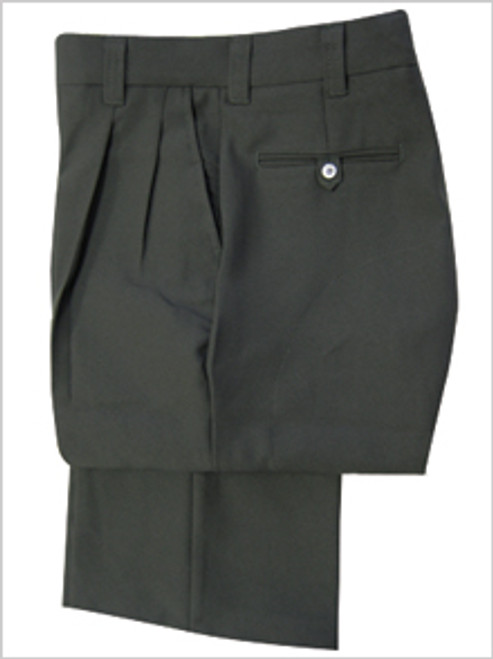 Smitty Pleated Charcoal Umpire Base Pants with Expander Waistband