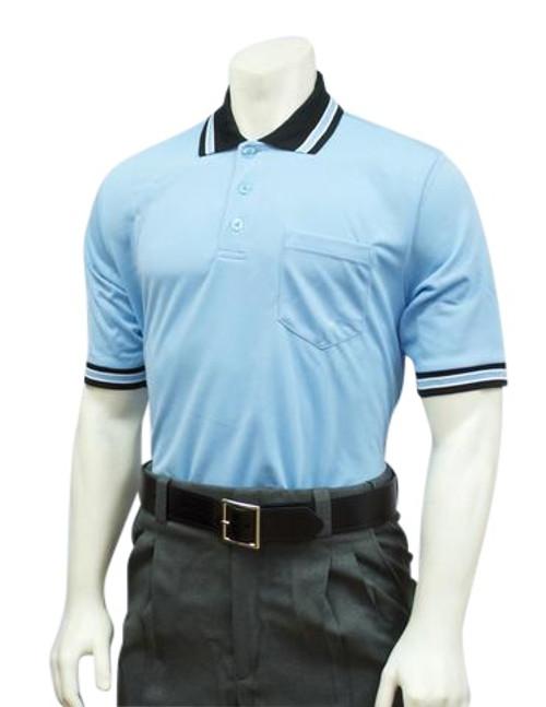 Smitty Powder Blue with Black Collar Ultra Mesh Umpire Shirt