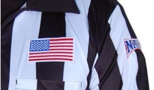 "NAIA Honig's Prosoft 2"" Stripe Short Sleeve Football Referee Shirt"