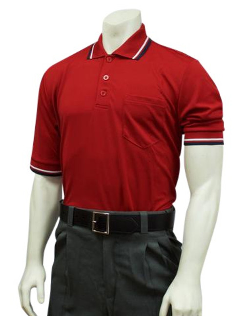 Smitty Red Ultra Mesh Umpire Shirt