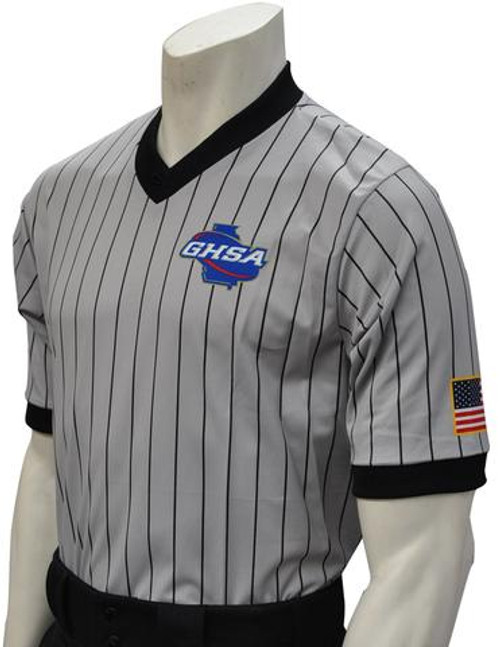 Georgia GHSA Elite Embroidered Wrestling Referee Shirt